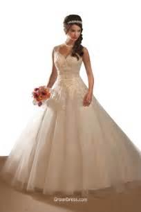 wedding dress destination v neck lace tulle gown wedding dress groupdress