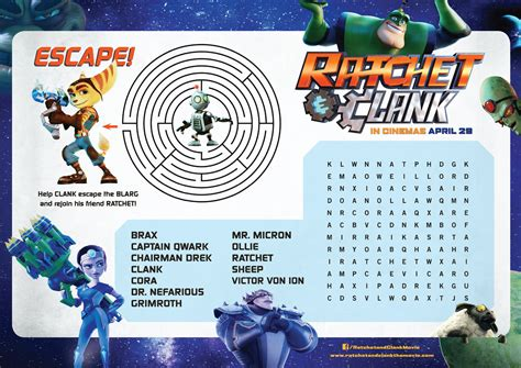 Ratchet And Clank Activity Sheet  Ee  Confusions Ee    Ee  And Connections Ee