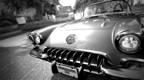 chevrolet corvette classic car classic bw cg digital art
