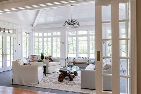 sunroom ceiling concept vaulted ceiling sunroom tandem pocket wall doors that