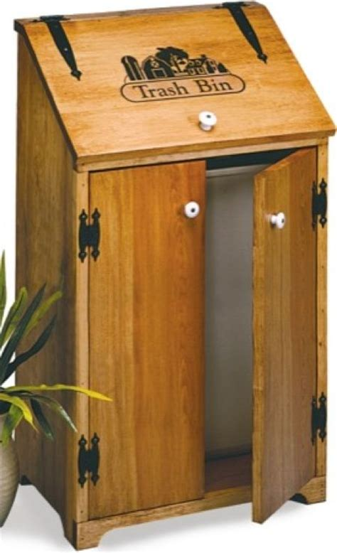 kitchen trash bin country woodworking plan