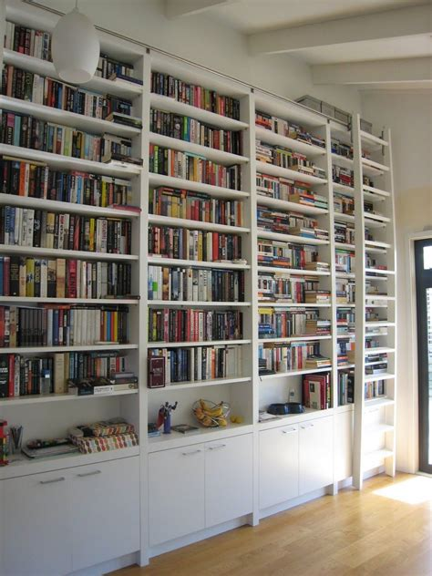 Big Library Ladder Ikea Book Cases Plan Ideas Narrow