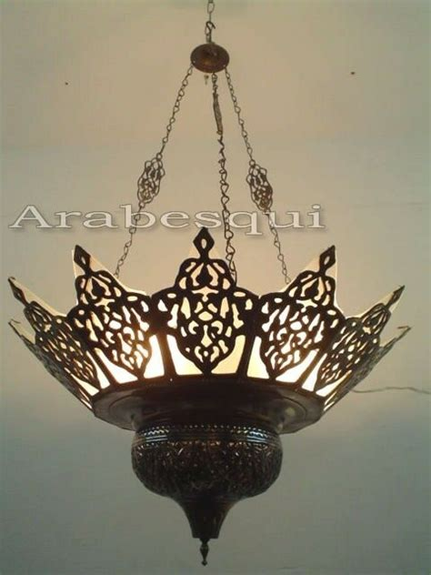 Large Brass Chandelier by Br227 Large Brass Moroccan Chandelier Lined With