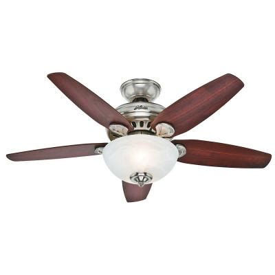 hunter stratford ceiling fan hunter stratford 44 in brushed nickel indoor ceiling fan