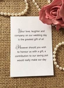 25 50 wedding gift money poem small cards asking for With wedding invitations gift wording for cash