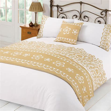 comforter bed sets king lace duvet cover with pillowcases runner bed in a bag set