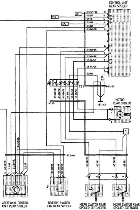 wiring diagram  rear spoiler rennlist porsche