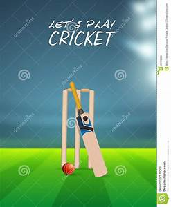 Cricket Sports Concept With Match Kit. Stock Illustration ...