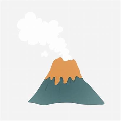 Volcan Cartoon Volcano Wulkan Volcanic Gunung Dibujos