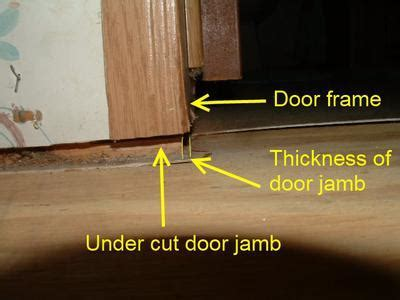 Should door jambs be cut in a mobile home when installing