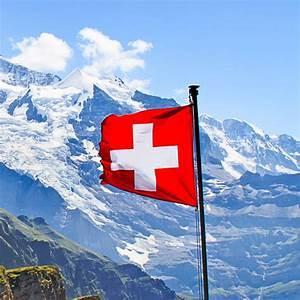 zwitserland vlag bergen
