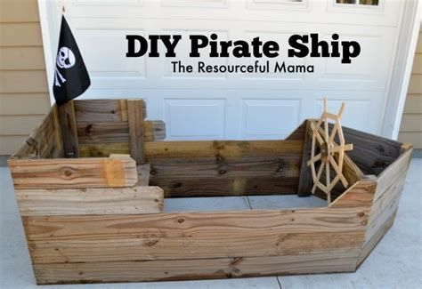 set sail   diy pirate ship pirate boats