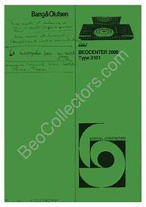 Bang Olufsen Beocenter 2000 Sch Service Manual Download