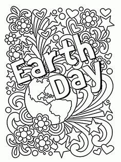 earth day coloring pages  doodle art alley print