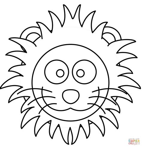 Cartoon Lion Face Drawing At Getdrawingscom Free For