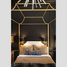 Gold Canopy Bed Design Ideas