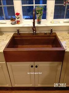 copper top mount drop in farmhouse workstation sink by With best price on farmhouse sink