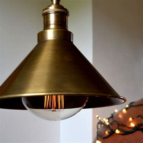 pendant cone in antique brass