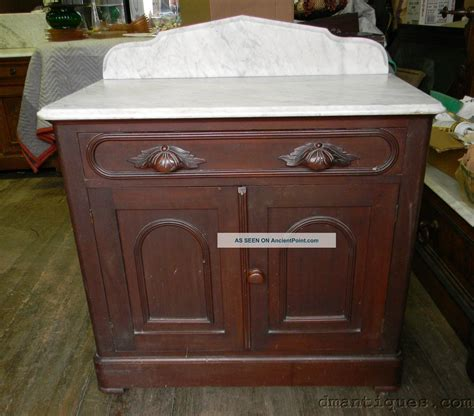 Marble Top Bathroom Cabinet by Antique Walnut Marble Top Bathroom Commode Wash