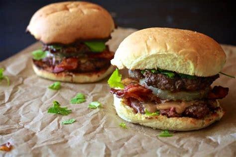 peanut butter burger thai peanut butter bacon burger the noshery