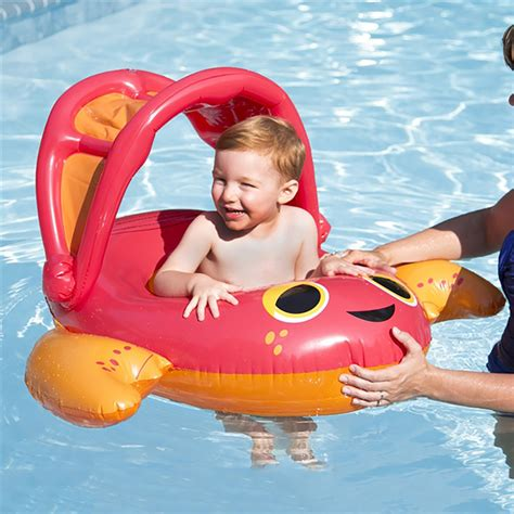 baby pool float with canopy swimways sun canopy baby boat floats pools