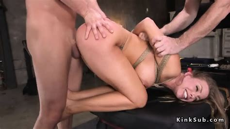Tied Up Busty Blonde Anal Fucked EPORNER