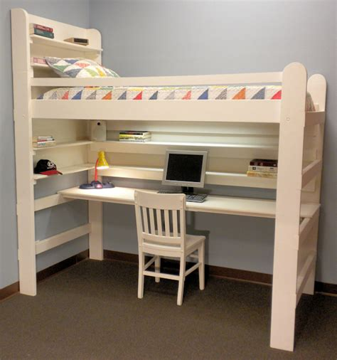 bunk bed with computer desk loft beds with desks bunk beds with stairs