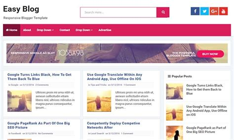 simple blogger easy template