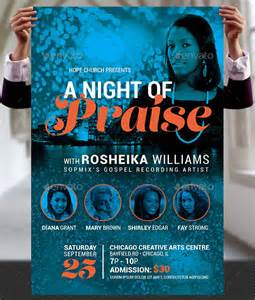 easter plays for church praise concert flyer and poster template by godserv on