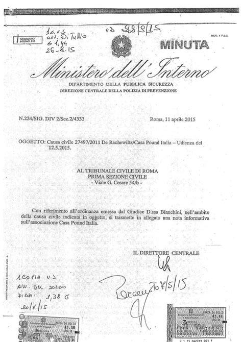Ministero Interno Roma Indirizzo - il viminale casapound impegnata nel sociale vittima