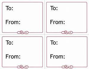 free printable gift tags templates With computer labels template