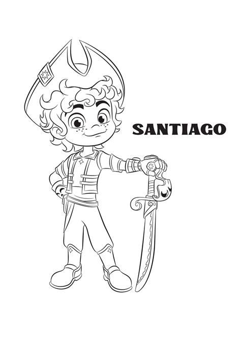 santiago  main protagonist coloring page