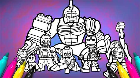 avengers infinitywar coloring page lego superheroes 2