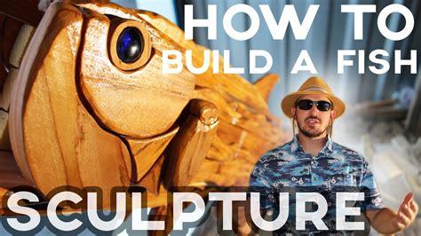 build  fish sculpture  scrap wood reclaimed