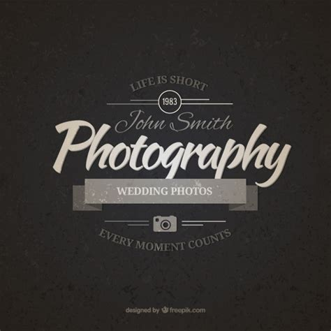 vintage photography badge  vectors ui