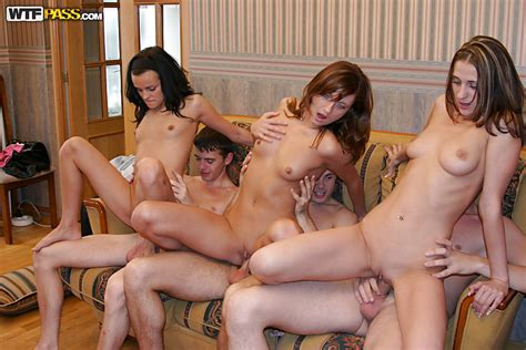 Salacious Teenage Chicks Have Some Dirty Fun At The Drunk
