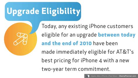 at t iphone upgrade at t apple iphone 4 upgrade eligibility obama pacman