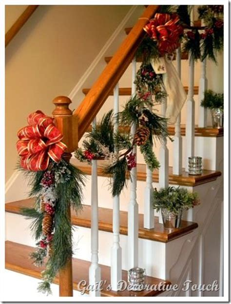 best banister garlands for christmas 17 best ideas about staircase on staircase decor