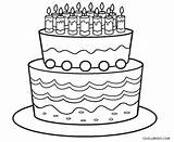 Coloring Cake Birthday Printable Cool2bkids sketch template