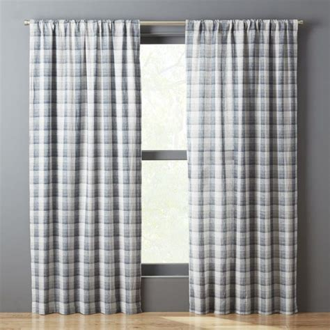 Blue And Green Curtains With Patterns