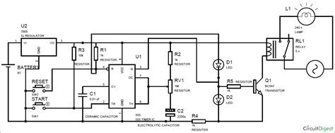 Simple Time Delay Circuit Diagram Using Timer