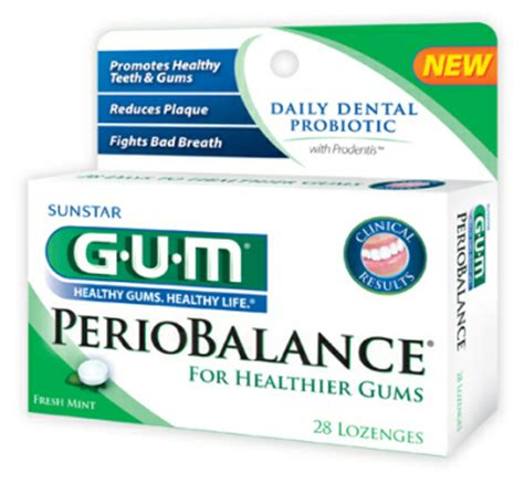 GUM PerioBalance New daily dental Probiotic Lozenge