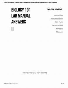 Biology 101 Lab Manual Answers By V424