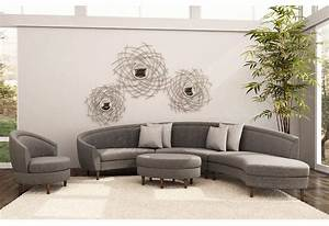 Gray sectional sofa with chaise luxurious furniture for Sectional sofa with round chaise