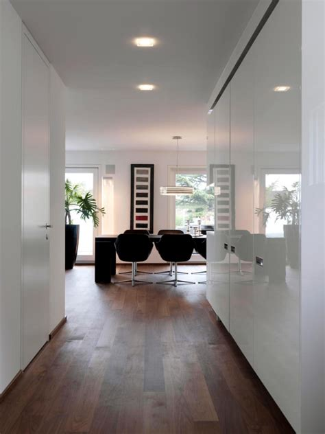 white walls  wooden floor interior design ideas