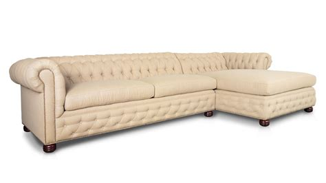 chaise chesterfield cococohome traditional chesterfield single chaise fabric sectional made in usa