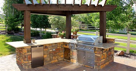design an outdoor kitchen exteriors a backyard deck with pergola ideas outside shade 6556