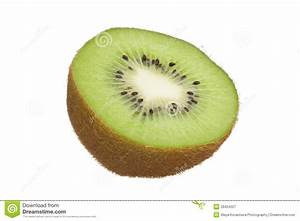 Kiwi Cut In Half Isolated On White Background Royalty Free ...