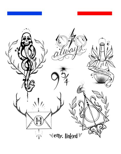 tatouage mangemort harry potter style emy linked mon