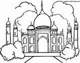 Coloring Pages Taj Mahal Magic sketch template
